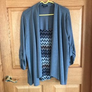 Notations 2 in one cardigan/ blouse size 2X